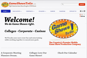 Visit the Game Shows To Go Website - opens in new window