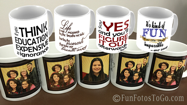 Motivational Mugs - an exclusive from Fun Fotos To Go