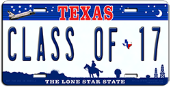 College License Plates Made on Site