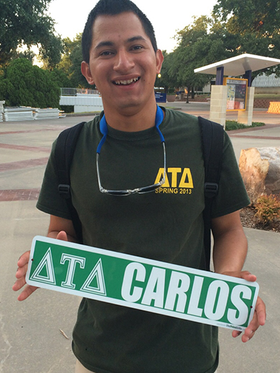 Greek Letters on Street Signs for College Events