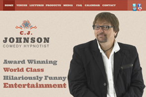 Visit C.J.'s Comedy Hypnosis Website - opens in new window